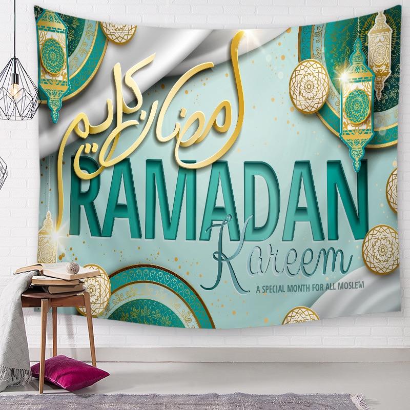 Muslim Ramadan Moon Castle Wall Hanging Tapestry Traveling Beach Towel Boho Blanket Yoga Pad Sleeping Tapestries Wall Decor  - buy with discount
