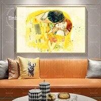 1 pieces mode grand mur Art photos pour salon amant baiser doux moderne decor a la maison HD impression toile peintures affiches