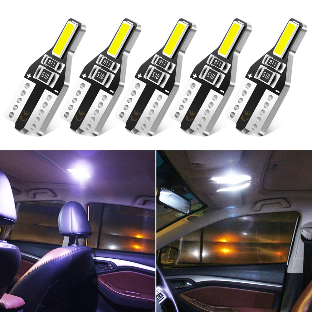 5x W5W T10 LED 194 Luzes Do Carro para Chery Tiggo QQ Fulwin 3 5 T11 A1 A3 A5 Amuleto Eastar M11 Elara