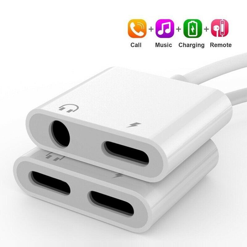 Adaptador de auriculares 2 en 1 para iPhone 12 Cable de carga para iPhone 7/8/8 Plus/X/XR/XS Max conector de Audio adaptador