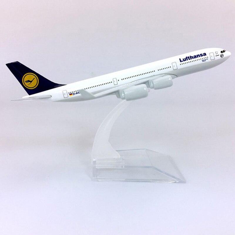 1/400 ar alemão lufthansa avião airbus A340-300 modelo com base de liga avião avião collectible exibir brinquedo 16cm modelo mostrar