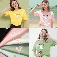 t shirt ladies fashion t shirt cute cartoon samoyed soft and comfortable cotton short sleeved top oversized t shirt