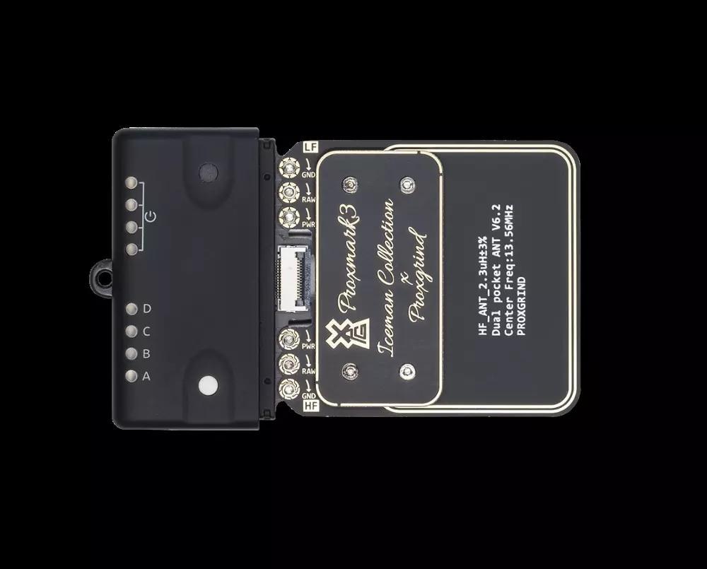 Proxmark-قارئ بطاقة NFC ، PM3 RFID ، clone Proxmark 3 RDV4.01 (مع هوائي داخلي HF و LF أسود جديد)