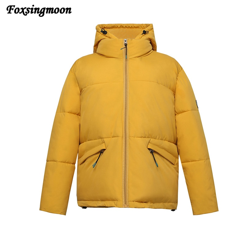 Women's Jacket 2021 Winter New Style Women's Korean Version Jacket Solid Color Hood Winter Clothing Fashion Trend Thick Coat