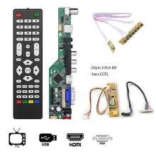 T. V53.03 universel LCD TV contrôleur carte pilote V53 analogique TV carte mère 14