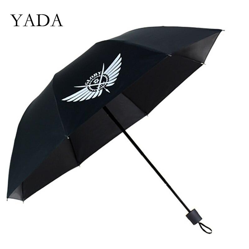 YADA nouvelle mode Cool dessin animé 3-parapluie pliant pluie UV Anime enfant Anime parapluie pour femmes homme coupe-vent parapluies YS200082
