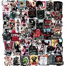 Stiker attaque sur Titan 100 pièces/ensemble Alan Mikasa étanche Stikers jouet pour voiture cahier Laptap valise autocollant cadeau pour les enfants