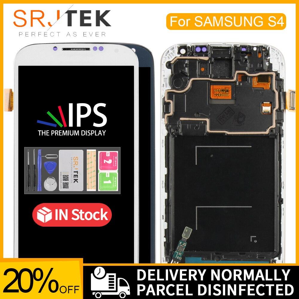 Pantalla LCD de 5,0 pulgadas para SAMSUNG Galaxy S4 LCD con marco GT-i9505 i9500 i9505 i9506 i9515 i337 digitalizador de pantalla táctil