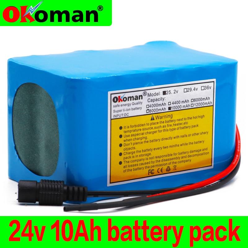 6s4p 24V 10Ah 18650 akumulator akumulator litowo-jonowy 25.2V 10000mAh rower z napędem elektronarzędzia bateria z systemem BMS