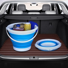 Автомобильное складное ведро, многофункциональное ведро для хранения воды, телескопическая коробка для хранения, моющееся ведро для рыбалки на открытом воздухе