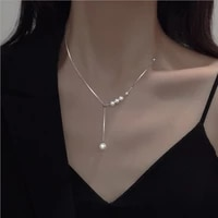 fashion jewelry simulated pearl pendant necklace 2021 new design hot selling chain necklace for girl fine accessories