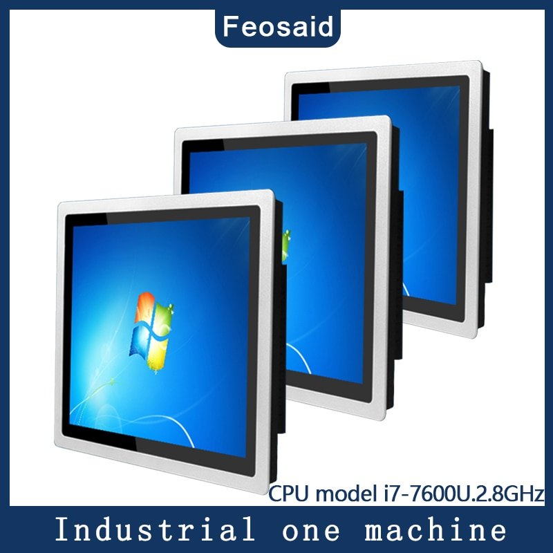21.5Inch Industrial Touch panel PC I7-7600 8G RAM 128G SSD Wifi Com win7/win10 System capacitance  Screen all in one Computer