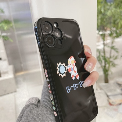 Phone Case For iPhone 11pro max 12mini pro max 7p/8plus X/Xs max XR Back Cover Phone shell Painted Soft Glue cartoon ins Cute