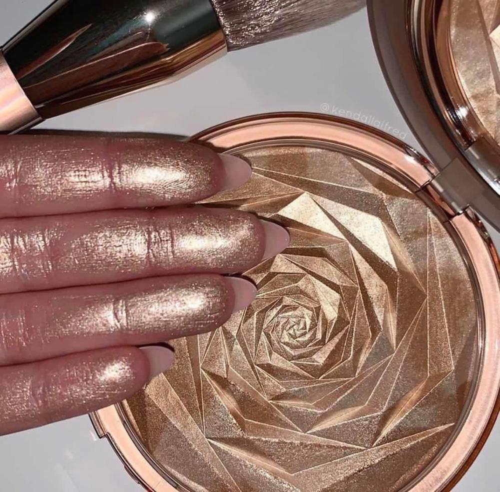 Hudamoji 6 Colors Highlighter Powder Glitter Palette Makeup Glow Face Contour Shimmer Illuminator Hi