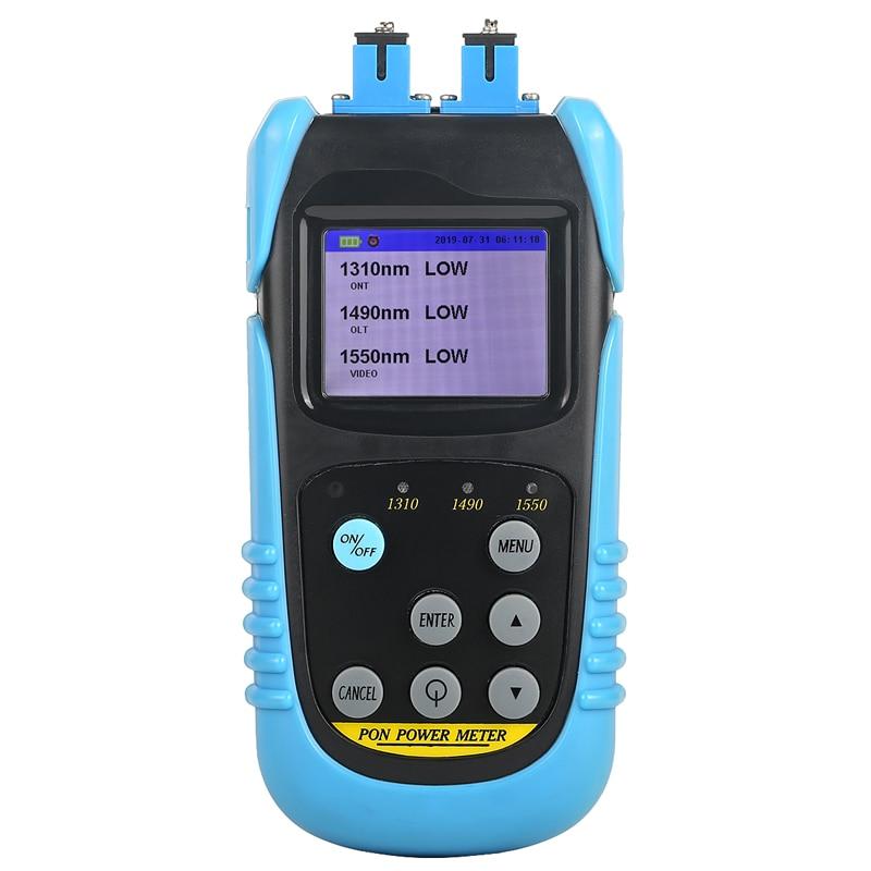 Power meter Tester AUA-607P Handheld PON Fiber Optic Power Meter mit SC UPC Stecker pon mit 1310nm,1490nm,1550nm wellenlänge