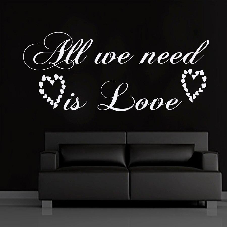 Todo lo que necesitamos es pegatinas de pared artística extraíbles para sala...