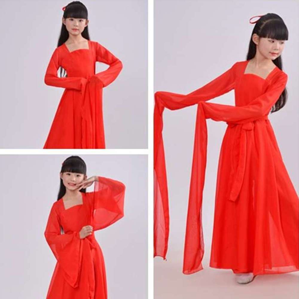 halloween children s costume cosplay girl horror vampire death ghost clothes little witch long sleeve costume girls prom dress White Red Chinese Dress Hanfu Girl Cosplay Chinese Style Fairy Dance Kids Girls Long Sleeve Dance Costume for Children