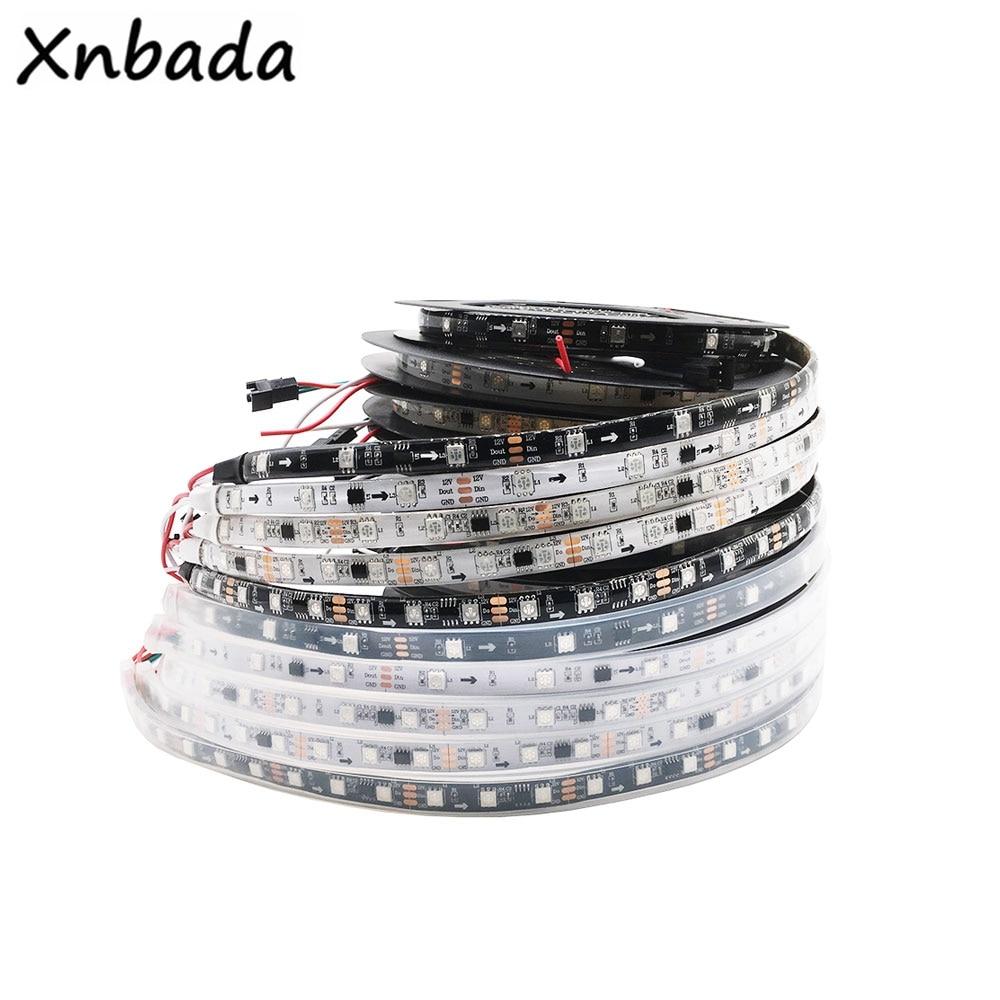 Highlight Led DC12V WS2811 RGB Led Streifen Licht Address 30/48/60 Leds/m Led Pixel Externe 1 IC Steuer 3Leds