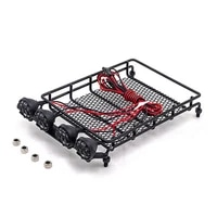 metal luggage carrier roof rack with led light for 112 mn d90 rc crawler car replacement accessory diy decor