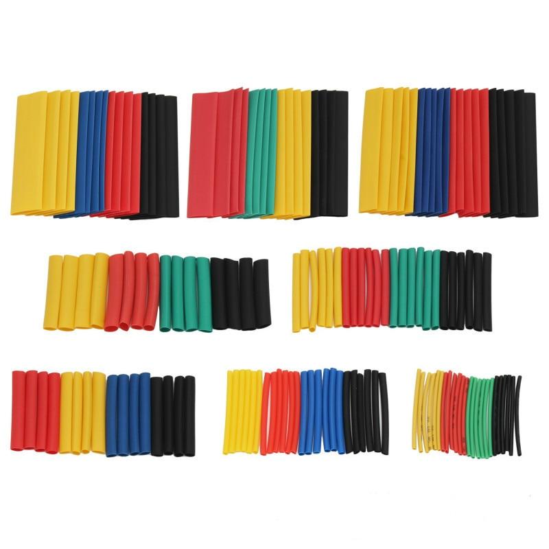 328/580 pces colorido kit de tubo de psiquiatra de calor sortidas polyolefin cabo de fio eletrônico manga 21 tubo shrinkable isolamento