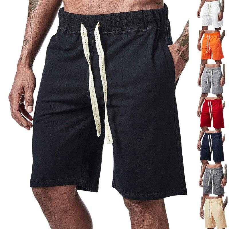 Спортивные шорты для бега, летние шорты, мужские повседневные спортивные шорты, мужские свободные шорты для фитнеса, стильные длинные брюки...