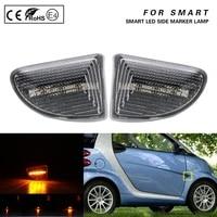2pcs for smart fortwo 451 mk1 mk2 2007 2008 2009 2010 2011 2012 2013 2014 2015 dynamic led side marker lamp turn signal light