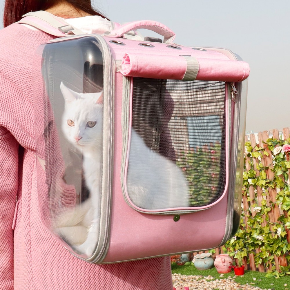 Pet Cat Carrier Backpack Breathable Cat Travel Outdoor Shoulder Bag For Small Dogs Cats Portable Pac