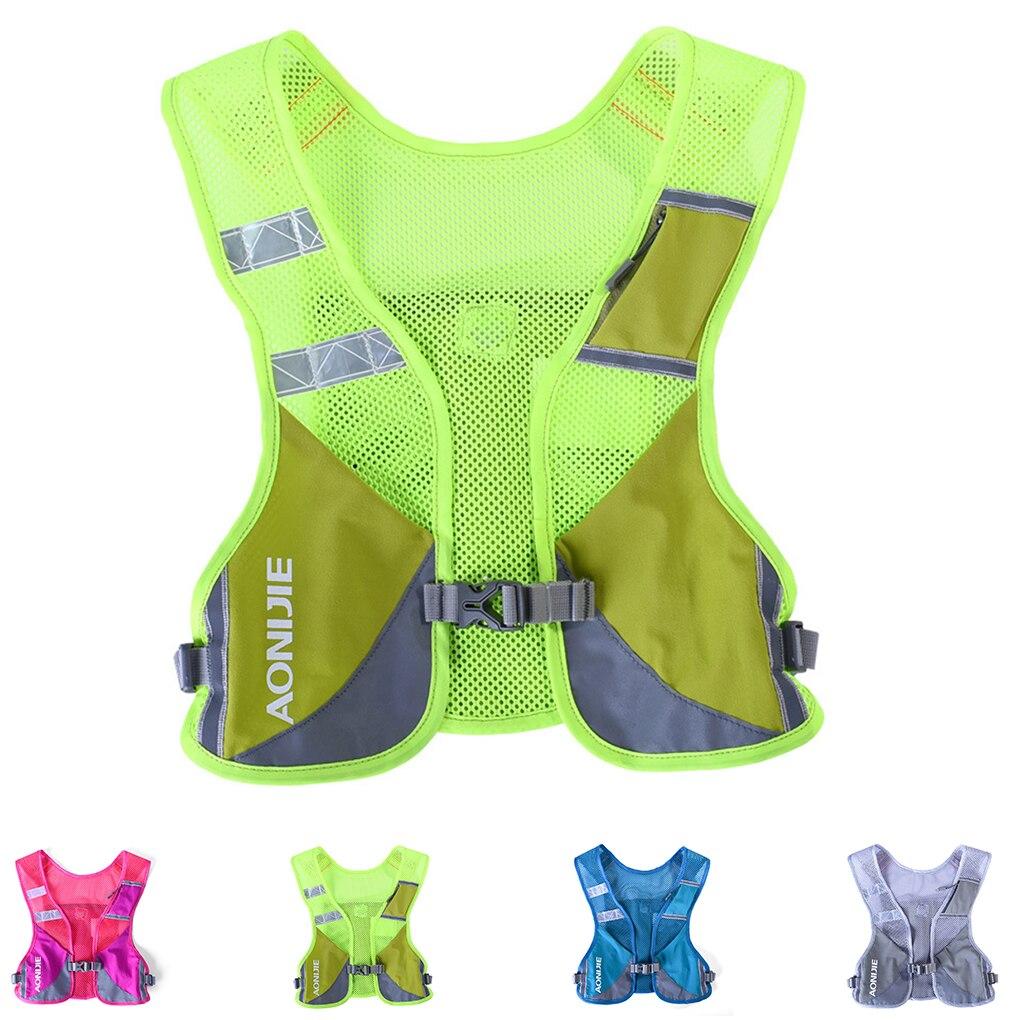 Отражающий светильник, рюкзак для марафона, ночной жилет для бега, уличная велосипедная бутылка, держатель для бутылки, сумка для воды