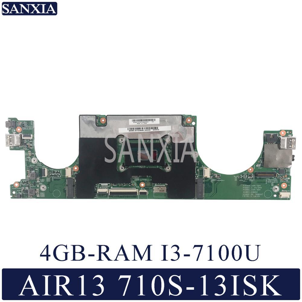 KEFU carte mère dordinateur portable pour Lenovo Ideapad AIR13 710S-13ISK carte mère dorigine 4GB-RAM I3-7100U