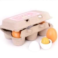 childrens wooden simulation egg set diy handmade toys kids joke prank plastic eggs party decor novelty toy for kids diy