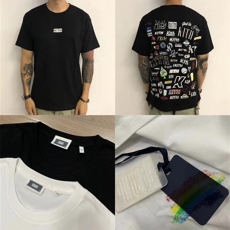 2020 KITH NOVEL T Shirt Men Women 1:1 Best Quality Hip-hop KITH T-shirt Top Tees