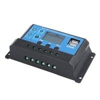 30A 12V / 24V LCD מודיעין אוטומטי לווסת PWM שמש הסוללה מטען Controller