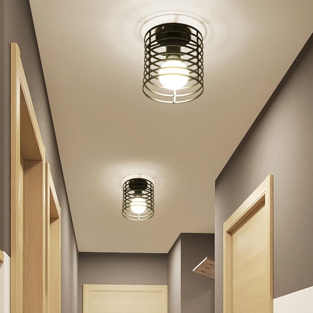 Lámpara de techo Vintage Industrial para sala de estar, iluminación LED E27,...