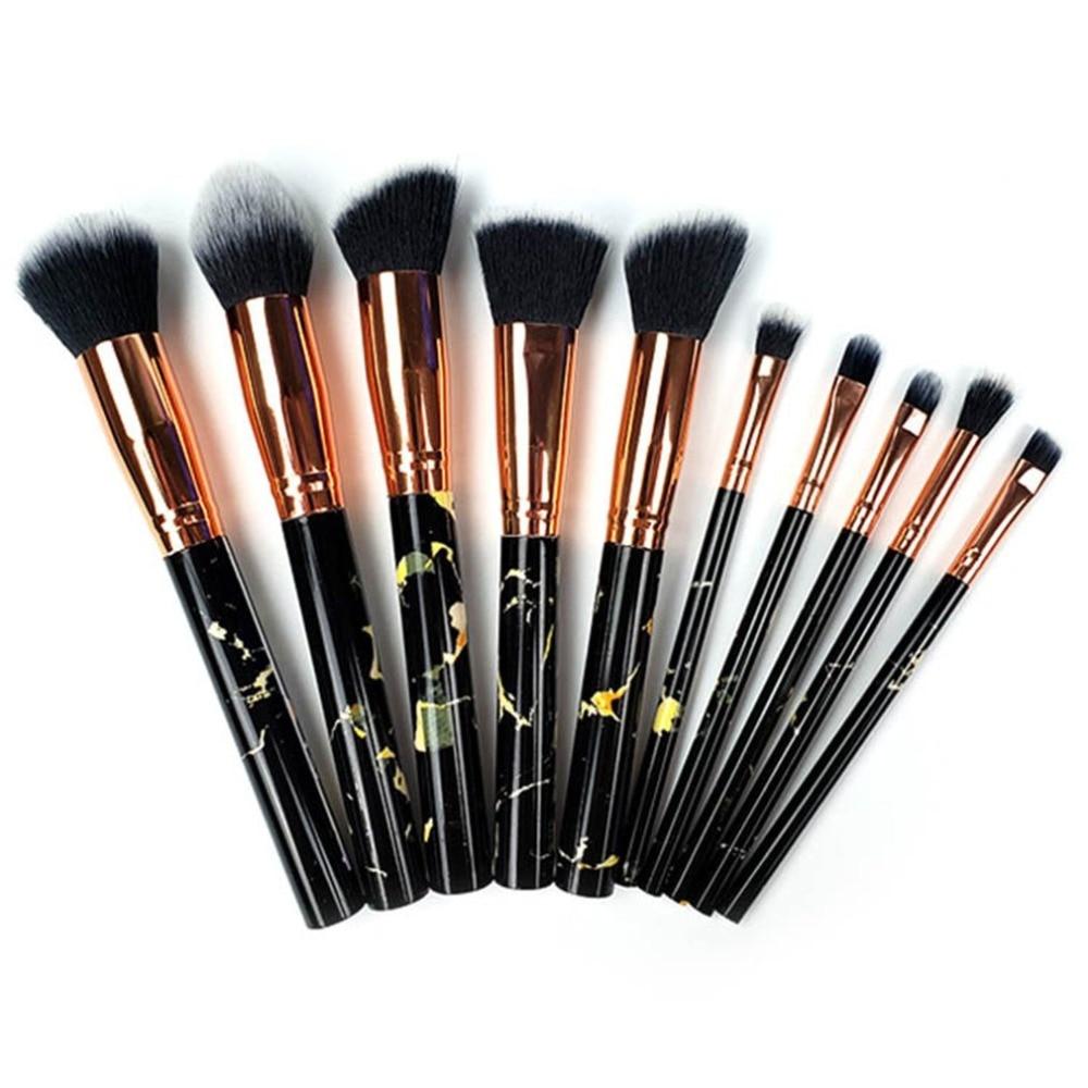 Kit de cosméticos para base poeder, conjunto de maquiagem kwasten para lábios de oogschaduren, 10 peças