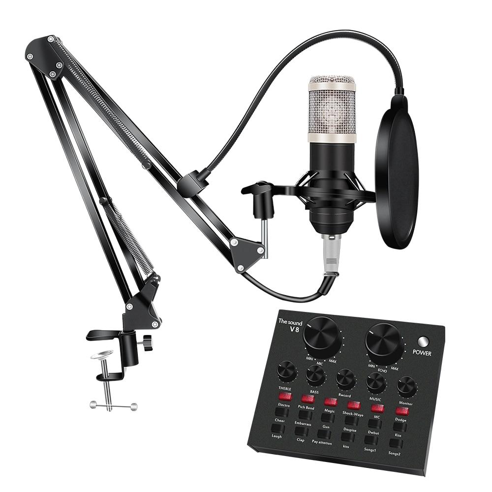 8Pcs/set Bm 800 Microphone Kit For Computer 7 Colors With V8 Sound Card enlarge