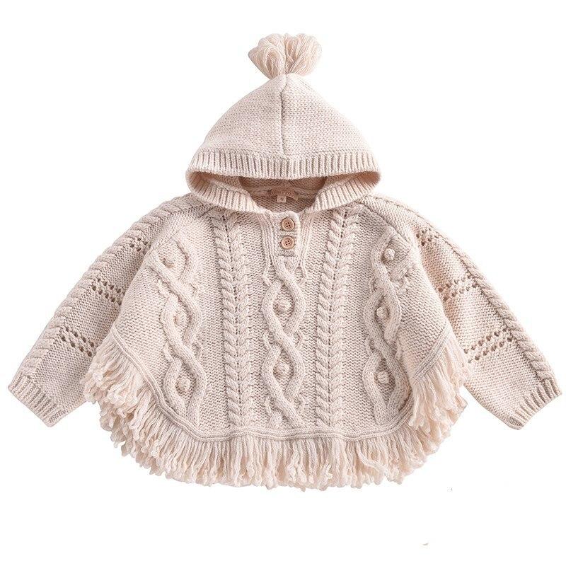 2020 outono e inverno novo bebê malha pequena capa xale meninas casaco de inverno menina roupas