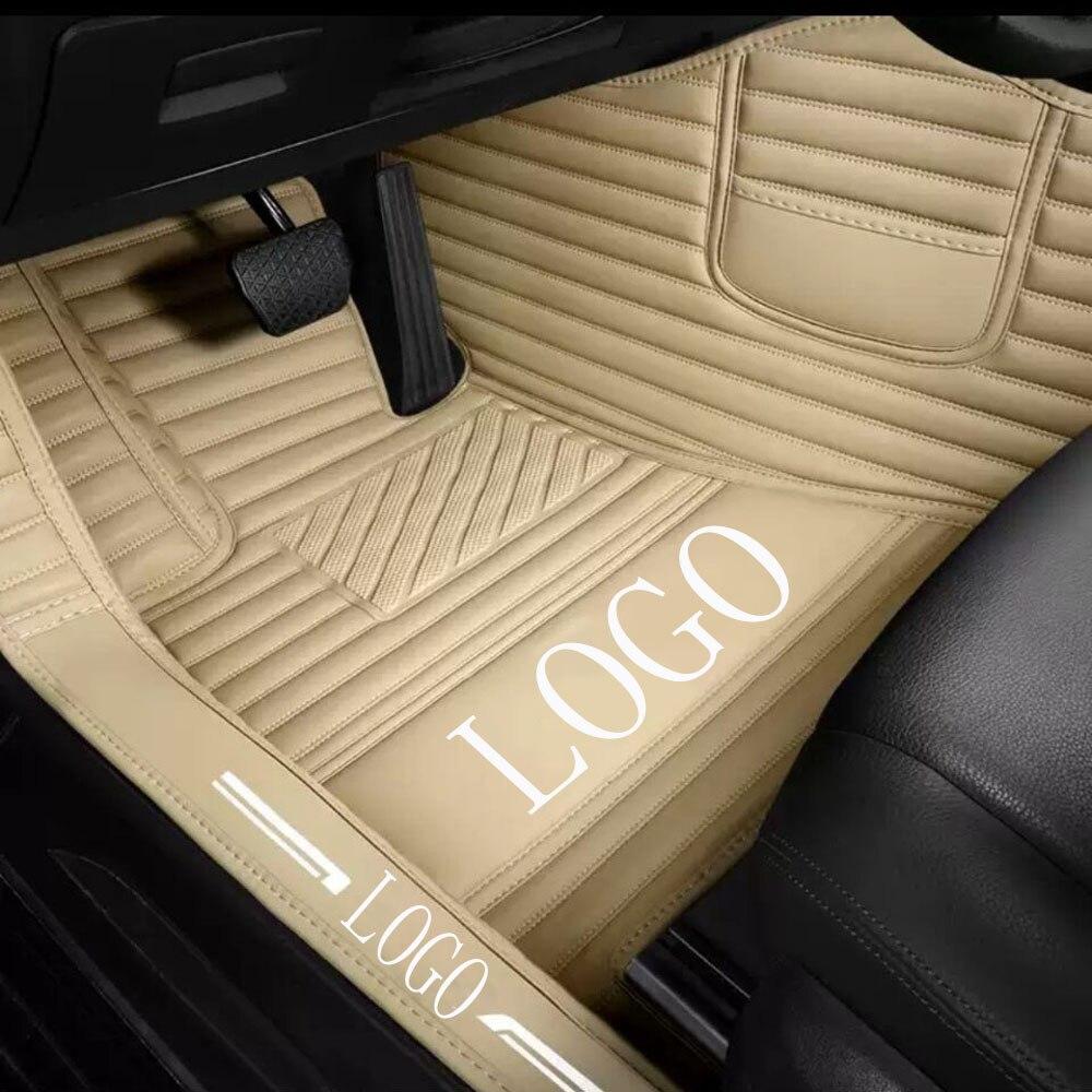 Car floor mats with Logo/Brand Logo for Ford Ecosport Fiesta Edge Escape Kuga Fusion Mondeo Explorer Focus 5D car-styling carpet