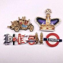 British Tourist Attraction Soldier Car Crown Button Logo Souvenir Resin Refrigerator Sticker Magnet Sticker Fridge Sticker