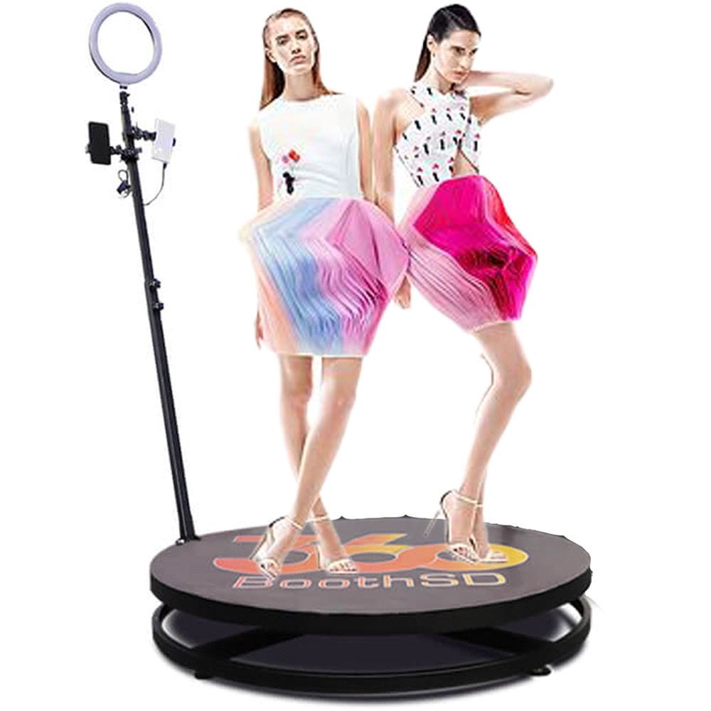Review 360 Photo Booth Wireless Automatic Rotating Selfie Wedding Photobooth Intelligent Operation Slow Motion Machine Video Camera SFX