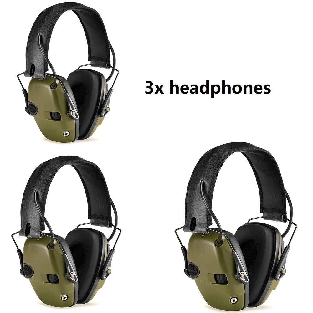 Electrónica orejeras para tiro anti-ruido a prueba de golpes a prueba de sonido de amplificación de caza táctico protección auditiva auriculares plegable FG