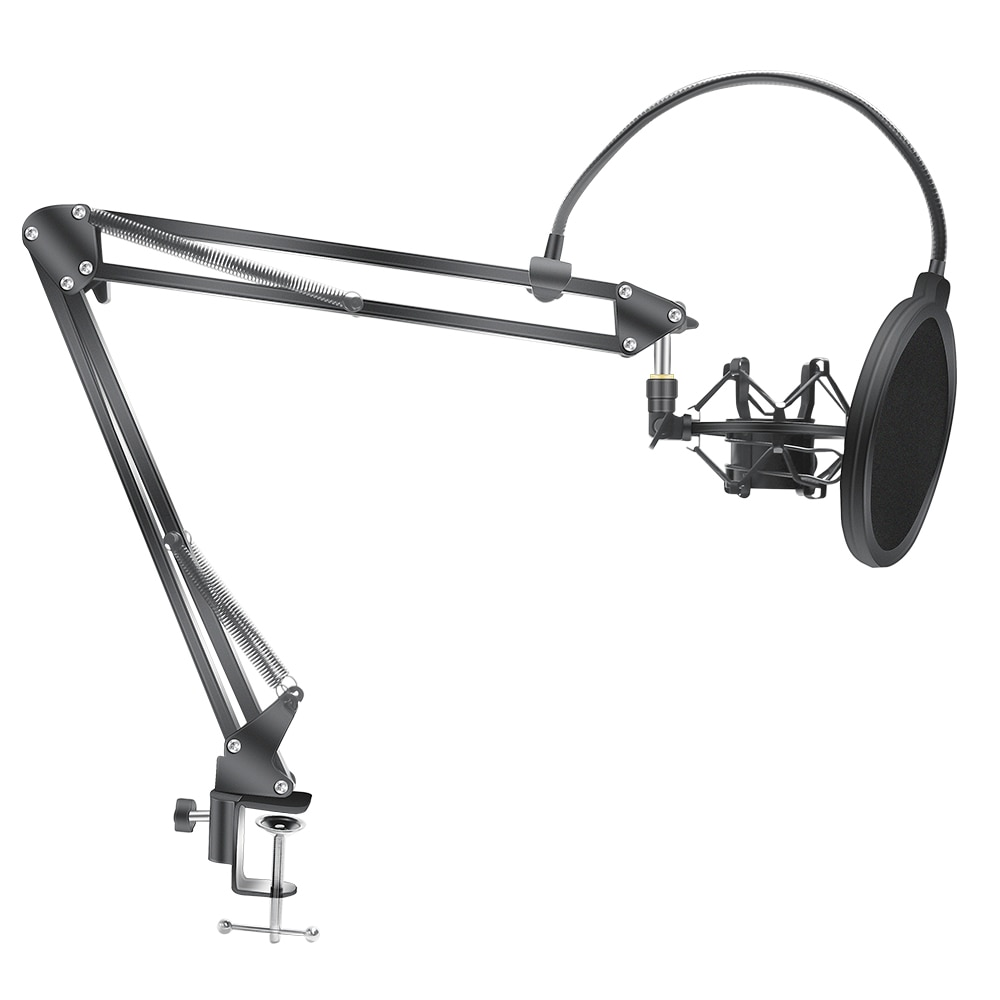 Microphone Scissor Arm Stand Bm800 Holder Tripod Microphone Stand F2 With A Spider Cantilever Bracke