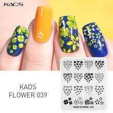 KADS Neue Ankunft 1pc Aufdruck DIY Maniküre Platte 18 Option Wahl Blume Natur Geometrie Serie Design Nail art Stanzen platte