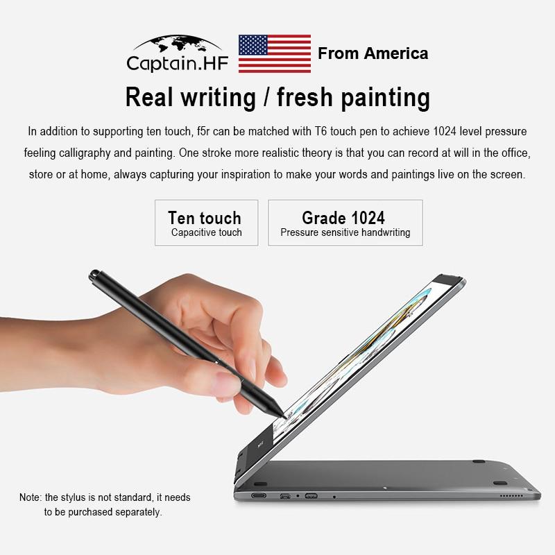 US Captain F5 11.6 Inch Touch Screen 360° Rotating Intel Gemini Lake N4100 8GB DDR4 256GB SSD Laptop enlarge