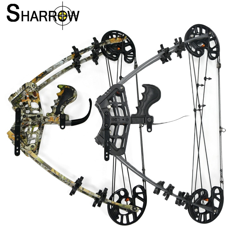 1pc 45lbs Archery Compound Steel Ball Bow Triangle Bow Hunting IBO Speed 350FPS Left And Right Hand Outdoor Shooting Accessories