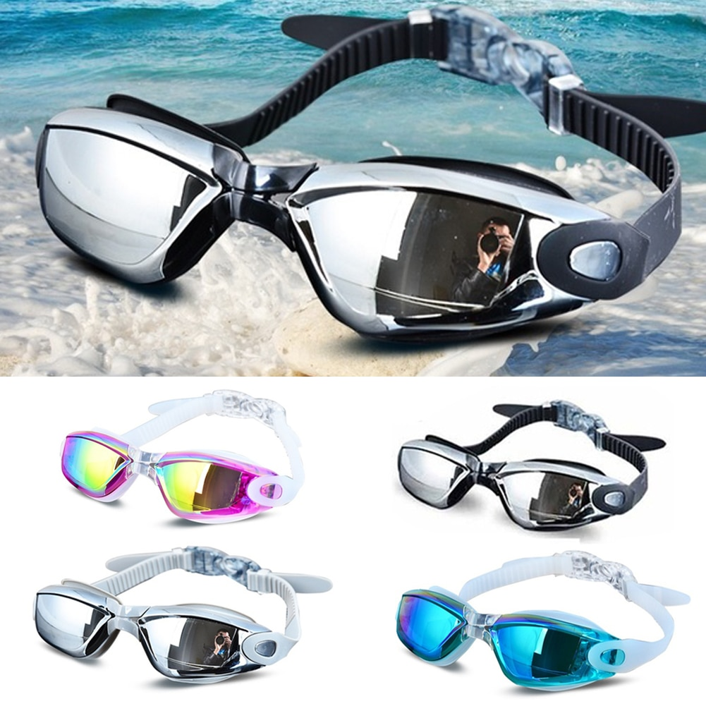 Professional Silicone Swimming Goggles Anti-fog Electroplating UV Swimming Glasses for Men Women Diving Water Sports Eyewear