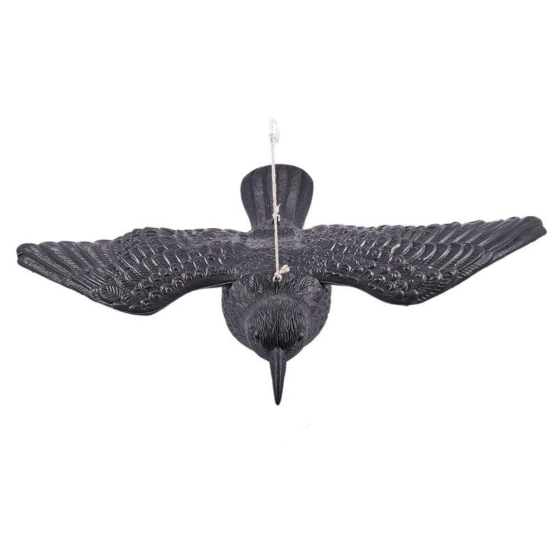 Señuelos de caza pájaros negros Crow jardín pájaro llamador Deter espantapájaros ratones espantapájaros Control de Plagas repelente caza Artículos