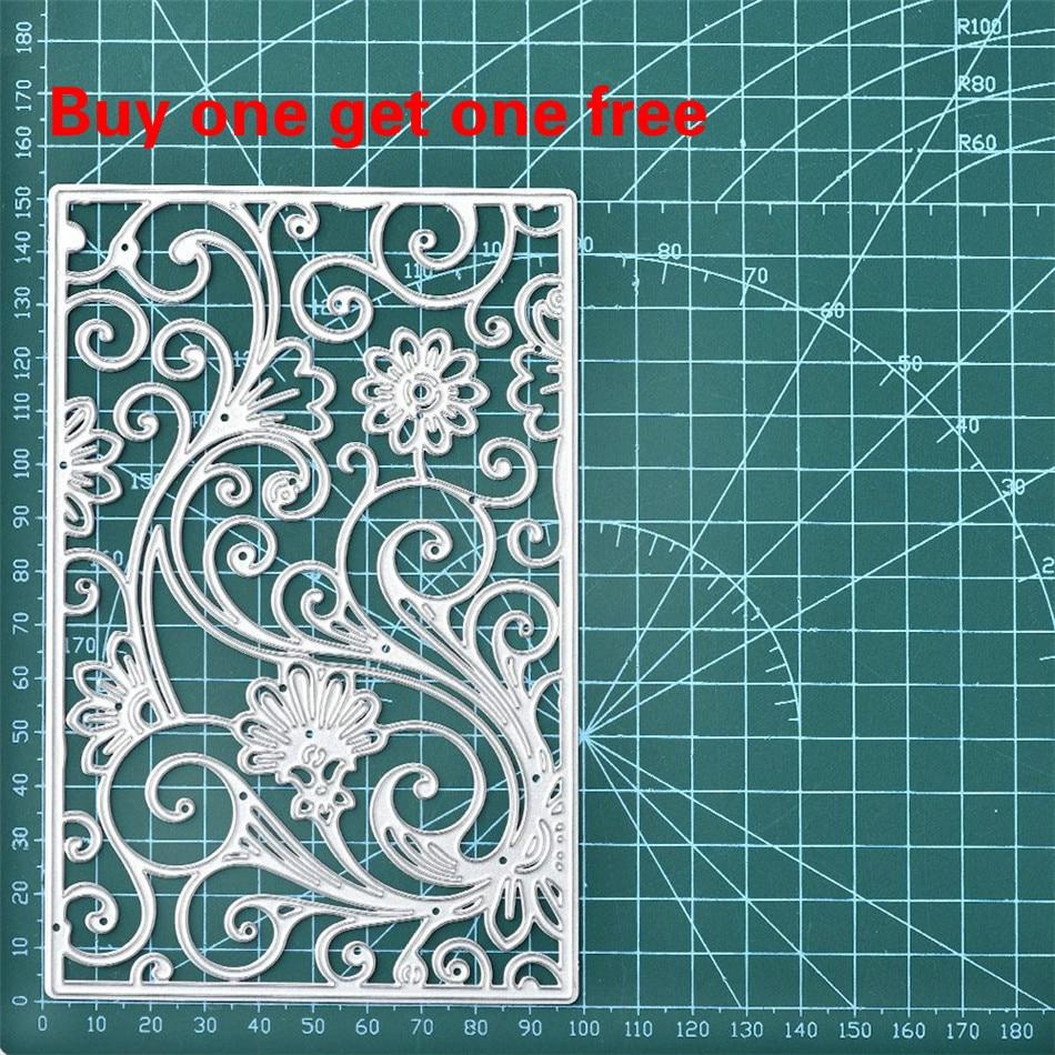 InLoveArts Flower Frame Dies Background Metal Cutting Dies New 2019 for Card Making Scrapbooking Cuts Decor Stencil Craft Dies