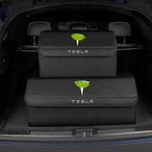 Car Storage Bag PU Leather Trunk Organizer Box Storage Bag Folding Tidying For Mercedes benz Porsche for BMW Audi Mazda Tesla