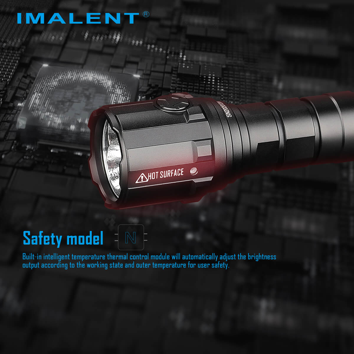 IMALENT R30C EDC LED Flashlight 9000 Lumens Type-C USB Rechargeable Flashlight by 21700 Battery for Hunting, Search and Rescue enlarge