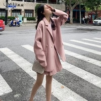 small suit suit womens two piece pleated skirt korean style western style suit small spring dress showing high foreign
